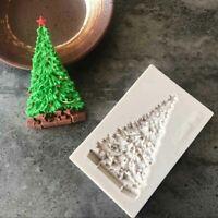 Pastel Chocolate Molde de silicona Sugarcraft Fondant Arbol de Navidad
