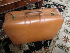VINTAGE SUITCASE TOP GRAIN COWHIDE LEATHER LUGGAGE Made for Saks Fifth Avenue
