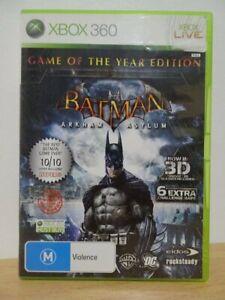 Batman Arkham Asylum...  Game Of The Year Edition  XBOX 360 Game... FREE POST AU