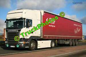 Truck Photo TR-00460 Scania R410 Reg:- 3SJ7668 Op:- Fliegl M20 Dover Lorry Kent