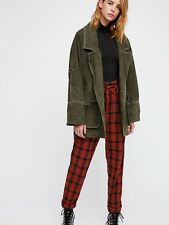 NWOT Free People Felicity Suede Leather Jacket Olive Size M