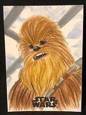 Chewbacca 2017 STAR WARS The Last Jedi ART SKETCH Card by ASIA ELLINGTON  1/1