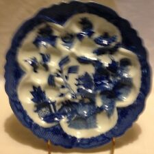 BLUE WILLOW OLIVE/ESCARGOT PLATE