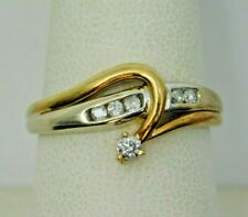 Unique 14K Yellow Gold Ring w/ Diamond Accents (439)