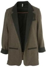 Topshop Premium Tweed Check Plaid Vtg Celeb Riding Boyfriend Blazer Jacket 6 2