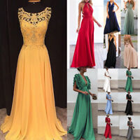 Womens Formal Long Elegant Ball Gown Party Prom Cocktail Wedding Evening Dress H