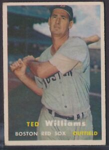 1957 Topps #1 Ted Williams Red Sox HOF EX±