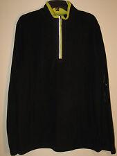 FILA Mens 1/2 Zip Fleece Pullover NWT $65 Black Medium
