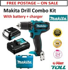 Cordless Driver Drill 12V Kit 1.5Ah Battery & Charger with Case Makita 2 Speed