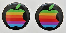 2 X 3D Brillo, Abovedado Rainbaw Apple Logo Adhesivos / Pegatinas para Iphone,