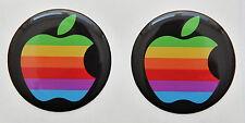 2 x 3D Brillante, Bombato Rainbaw Apple Logo Decalcomanie/Adesivi per Iphone,