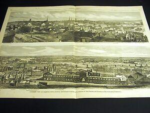Birds Eye View RICHMOND Spottswood House Capitol Railroad 1865 Large Folio Print