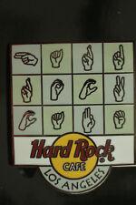 HRC Hard Rock Cafe Los Angeles Sign Language Logo LANGAGE DES SIGNES