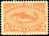 Mint Canada 1880-1896 Newfoundland 2c F-VF Scott #48 Stamp Hinged