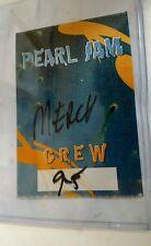 Vintage Rock & Roll 1995 PERAL JAM Unused Crew Backstage Ticket EDDIE VEDDER