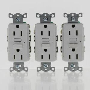 New 3-Pack Hubbell White Self-Test GFCI Receptacle GFI Outlets 5-15R 15A GF15WZ