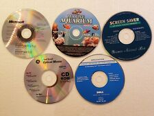 5 Pc computer Programs Disc lot Screen Savers Intellitype Pro 5.0 Dell tools NM