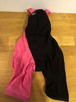 Womens Speedo LZR Racer Elite Kneeskin Tech Suit SZ 23 Black & Pink FINA
