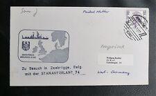 DEUTSCHE BUNDESMARINE : ZERSTÖRER MÖLDERS D-186 / BESUCH IN ZEEBRÜGGE - 1974