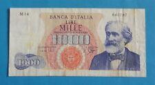 ITALIA BANCONOTA LIRE 1000 G.VERDI - 1^ TIPO DM 1963 Carli/Ripa Rarità R2 - BB++