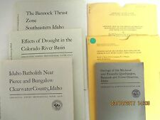IDAHO - Lot of Geologic Maps and Survey Booklets - Dept of Interior