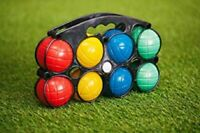 8x WATER BOULES SET Water Filled French Garden Games Holiday Outdoor Game Family