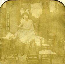 France paris erotic fantasy risk chiffonnette bk tissue stereoview photo 1900