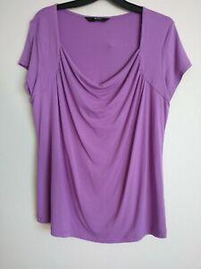 BHS Waterstone Short Sleeve Violet Top UK 16