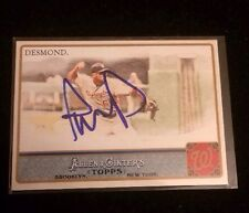 IAN DESMOND 2011 TOPPS ALLEN GINTERS Autographed Signed AUTO Baseball Card 251
