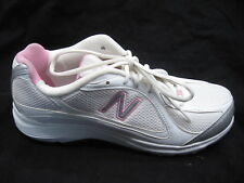 New Balance sz 10B 496 white silver pink womens ladies running sneakers shoes