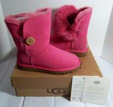 UGG AUSTRALIA WOMENS BAILEY BUTTON PERF BOOTS PINK SIZE 6 NEW RARE TDF
