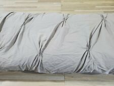 West Elm Organic Cotton Pintuck Duvet in Gray KING/CAL KING