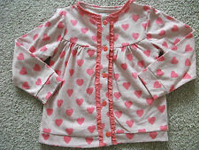 Girl's m&s Pink Long Manche Buttoned Jacket/cardigan age 12-18 M Bnwt