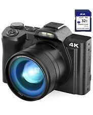 4k digital camera for youtube,vlogging camera with 32GB SD card,16X digital zoom