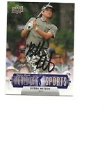 New listing BUBBA   WATSON    GOLF      AUTOGRAPHED    CARD