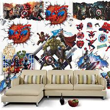 super héros LES VENGEURS 3D Autocollant Mural Amovible mural Décalques vinyle