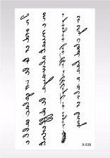 US SELLER- body tattoos temporary writing words temporary tattoo