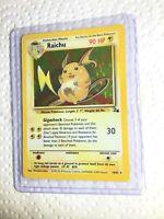 RAICHU - 14/62 - Fossil Set - Holo - Pokemon Card - EXC / NEAR MINT