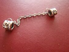 Silver plated safety chain