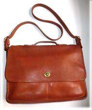 Fab Vtg Coach USA Briefcase Legacy Crossbody Messenger Laptop Bag British Tan