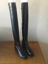 Stuart Weitzman 5050 Black Leather Tall Boots US NWOB Size 8.5M