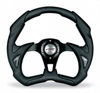 X5350PUN/P Volante Auto Sportivo Eco Pelle Nera Simoni Racing Fiat 500 126 Epoca