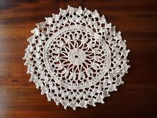 Round Cream Cotton Crochete Dressing Table Doilie Approx diameter 19cm
