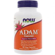 NOW Foods ADAM Multi-Vitamin for Men 30,45,60,90 or 120 capsules or softgels