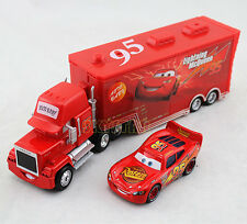 2Pack Disney Pixar Cars Diecat NO.95 Lightning McQueen&Mack Superliner Truck Toy