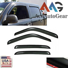 Window Visor Vent Shade Rain Sun Guard For 2002-2006 Chevy Avalanche 1500/2500