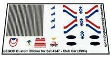 Precut Custom Replacement Stickers for Lego Set 4547 - Club Car (1993)