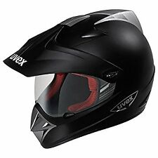 UVEX ENDURO MATT BLACK MOTORCYCLE HELMET *HALF PRICE*- X-LARGE