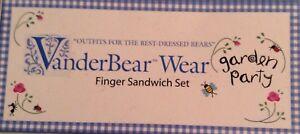 MUFFY VANDERBEAR GARDEN PARTY FINGER SANDWICH SET NEW