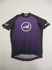 JAKROO Men's Size M Zip Front Breathable Purple Tournament Cycling Jersey